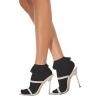 Lace Ruffle Ankle Socks Black